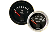 VDO Vision Black & Vision Chrome marine gauges